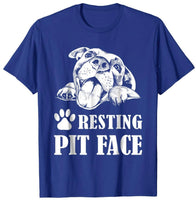 Trends Funny Dog Pitbull Resting Pit Face T-Shirt - Teetaho