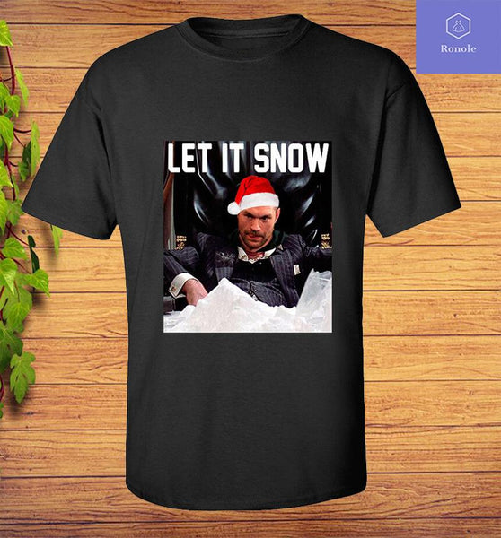 Tyson Fury T-Shirt - Let It Snow - Adults & Kids All Sizes - Teetaho