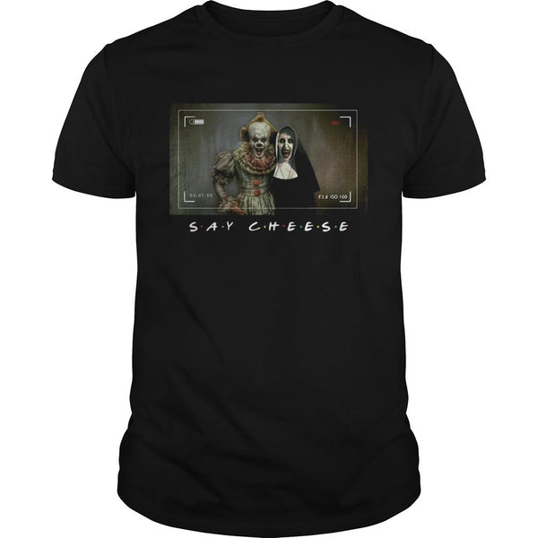 Valak And Pennywise Photo Say Cheese Friends Tv Show T shirt