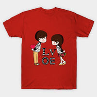 Valentine Day LOVE Gift Heart T-Shirt - Teetaho