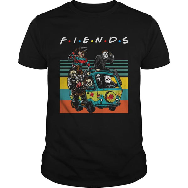 Vintage Friends Tv Show Horror Film Characters T Shirt