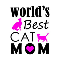 World's Best Cat Mom T-shirt - Teetaho