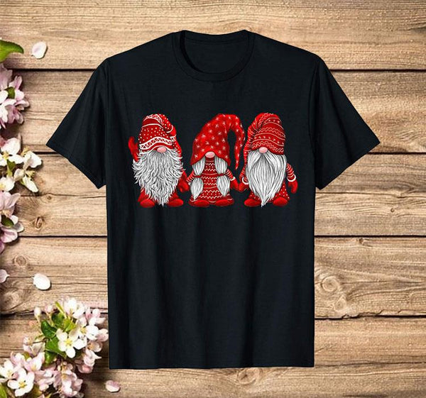 Hanging With Red Gnomies Santa Gnome Christmas Costume T-Shirt - Teetaho