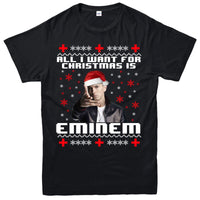 All I Want For Christmas T-Shirt Eminem Xmas Gift Adult & Kids Tee Top - Teetaho