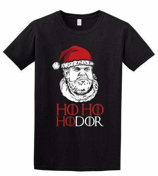 Ho Ho Hodor - Game of Thrones TV Christmas Xmas Hodor Gift Inspired T-Shirt - Teetaho