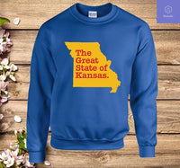 The Great State Of Kansas Sweatshirt - Teetaho