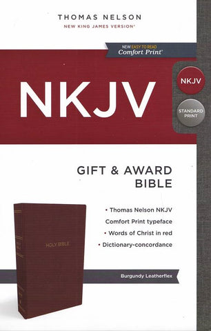 NKJV Gift and Award Bible Black Red Letter Edition