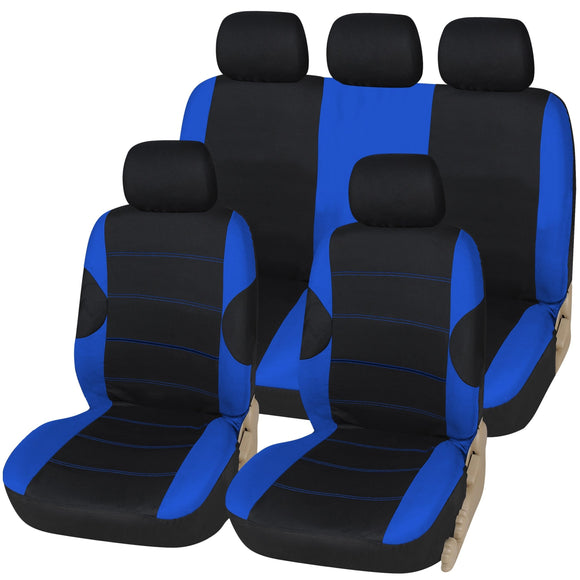 Racing Style 9pc Car Seat Cover Set