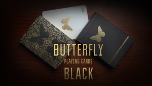 Butterfly (Black) Playing Cards by Ondrej Psenicka
