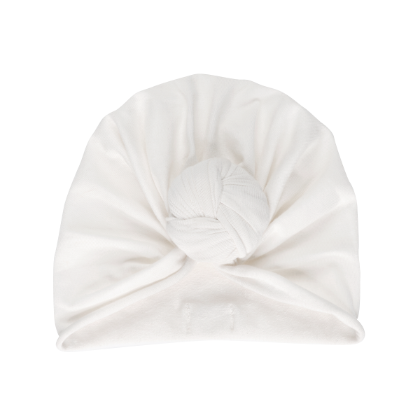 Bonnet turban – Whipped cream
