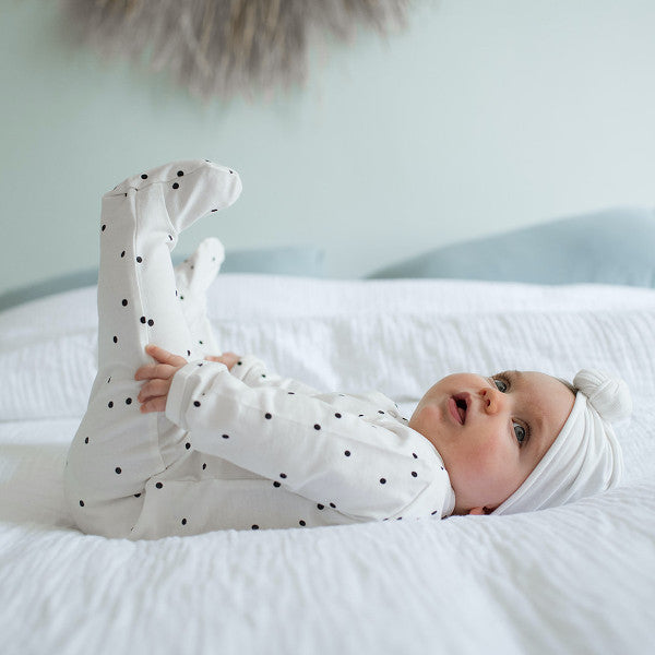 pyjama coton bio Bonjour Little dots cream ptites natures