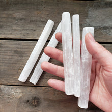 "Load image into Gallery viewer, 5"" Selenite Stick"