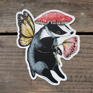 Badger Fairy Vinyl Sticker