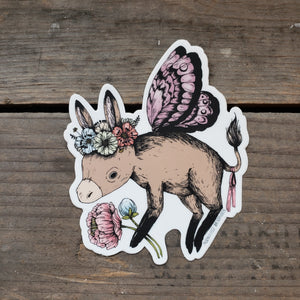 Donkey Fairy Vinyl Sticker
