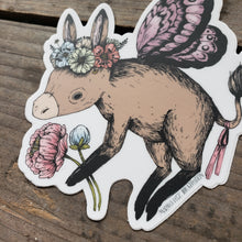Load image into Gallery viewer, Donkey Fairy Vinyl Sticker