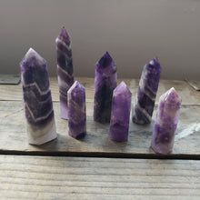 Load image into Gallery viewer, Chevron Amethyst Obelisk
