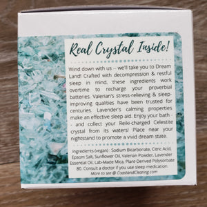 Celestite Crystal Core™ Bath Bomb