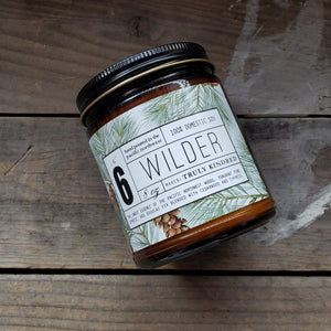 """Wilder"" Pine, Spruce, and Fir 8oz. Soy Candle"