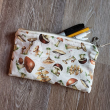 Load image into Gallery viewer, Mushroom Print Pencil Pouch