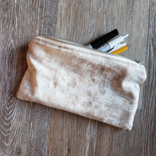 Load image into Gallery viewer, Upcycled Rust Fabric Pencil Pouch