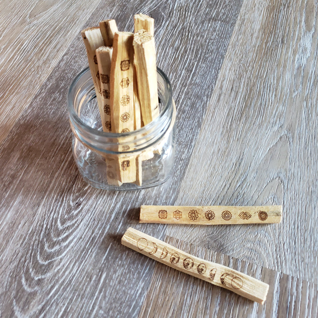 Etched Palo Santo Sticks