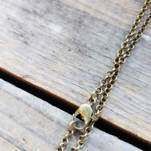 Load image into Gallery viewer, Brass-Toned Mushroom Necklace