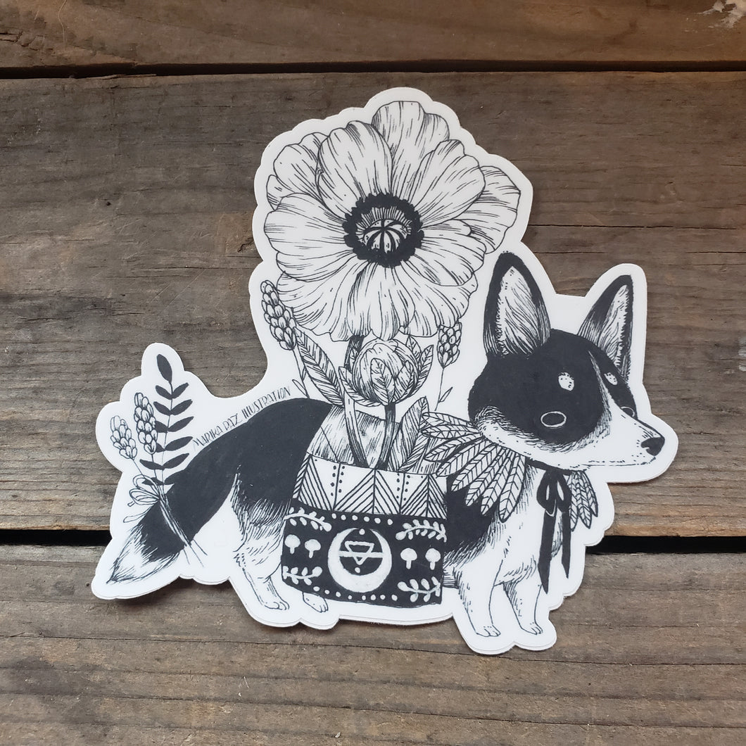 Scout the Corgi Vinyl Sticker