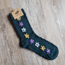 Load image into Gallery viewer, Floral Crew Length Socks