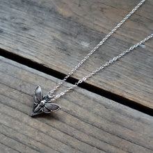 Load image into Gallery viewer, Deaths Head Moth Diamond Necklace