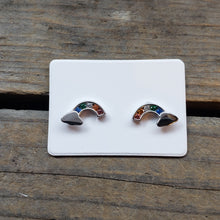 Load image into Gallery viewer, Sterling Silver Rainbow Studs