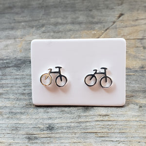 Polished Sterling Silver Bicycle Studs