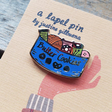 Load image into Gallery viewer, Butter Cookie Sewing Kit Enamel Pin