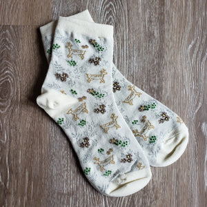Woodland Deer Pattern Socks
