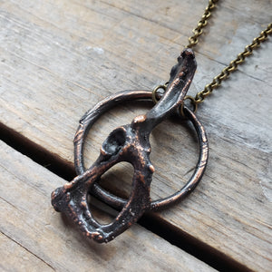 Salvaged Rabbit Hip Bone Necklace