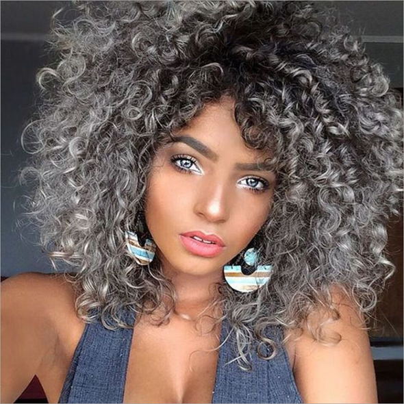 Synthetic Curly Short Wig for Women