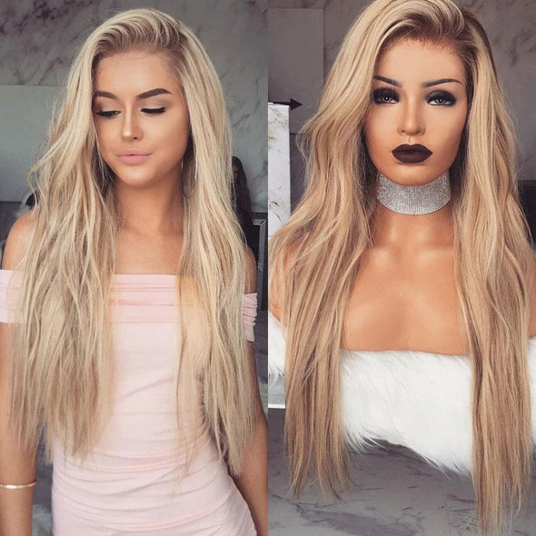 Cute Girl Wave Long Blonde Wigs