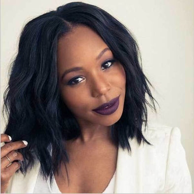 Natural Black Bob Wave Hot Wig