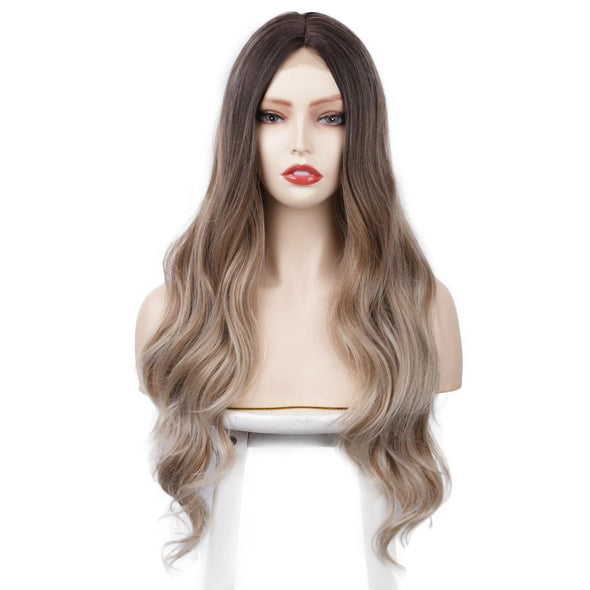 Benny Wavy Brown Blonde Hot Mini Lace Front Wig