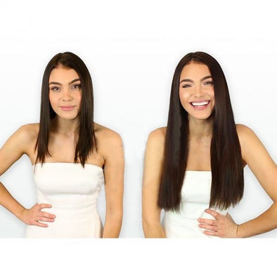 Straight Halo Hair Extensions Wigs