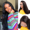 Straight Full Lace Front Human Hair Wigs