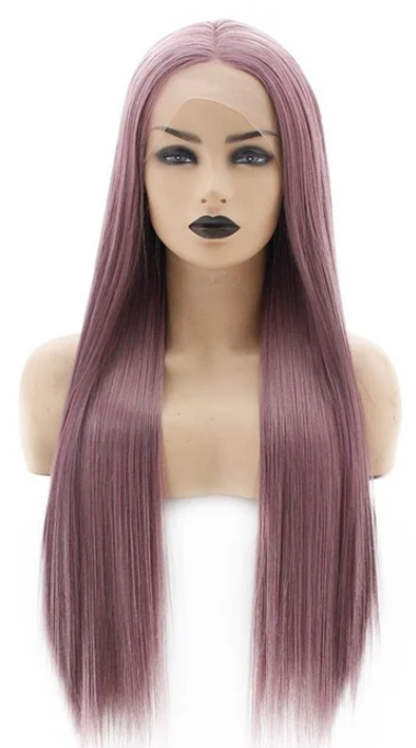Fringed Synthetic lace front wig