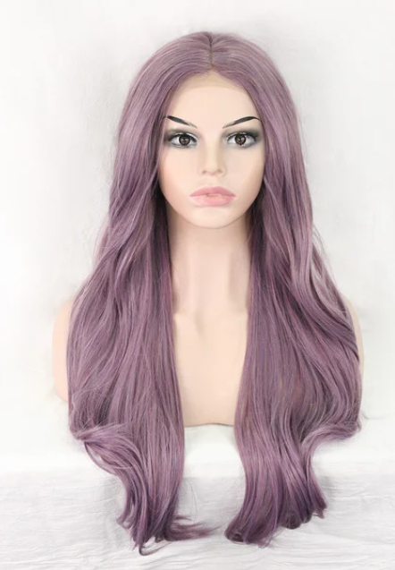 Lila Purple Mixed Color Synthetic Lace Front Wig