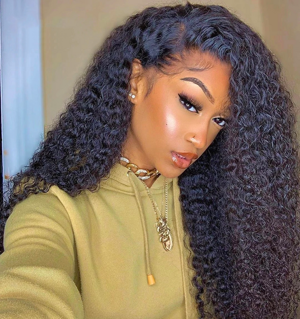 Kinky Curly 360 Lace Front Human Hair Wigs