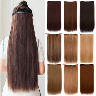 24'' Long Straight Hair Extensions