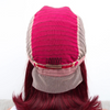 Red Malaysian Straight Lace Front Human Hair Wigs
