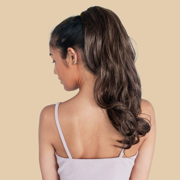 30-Second Dream Claw Clips in Ponytail Extension(Wave)
