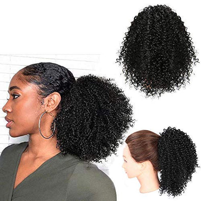 Short Afro Curly Ponytail Hair Piece