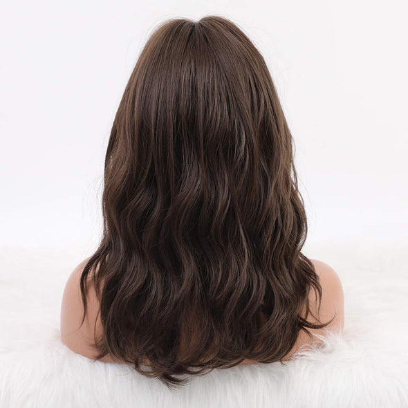 Ombre brown Long Layered Curly Women's Wig
