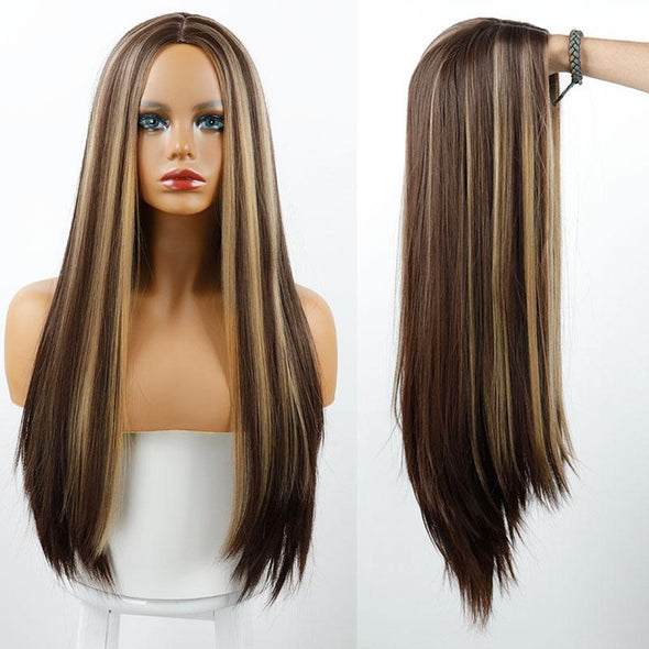 Mixed Color Straight Hot Mini Lace Front Wig