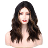 Wavy Brown Blonde Bob Mini Lace Front Wig